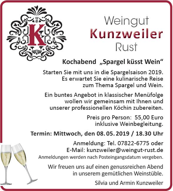 """Einladung: Kochabend """"Spargel küsst Wein"""""""