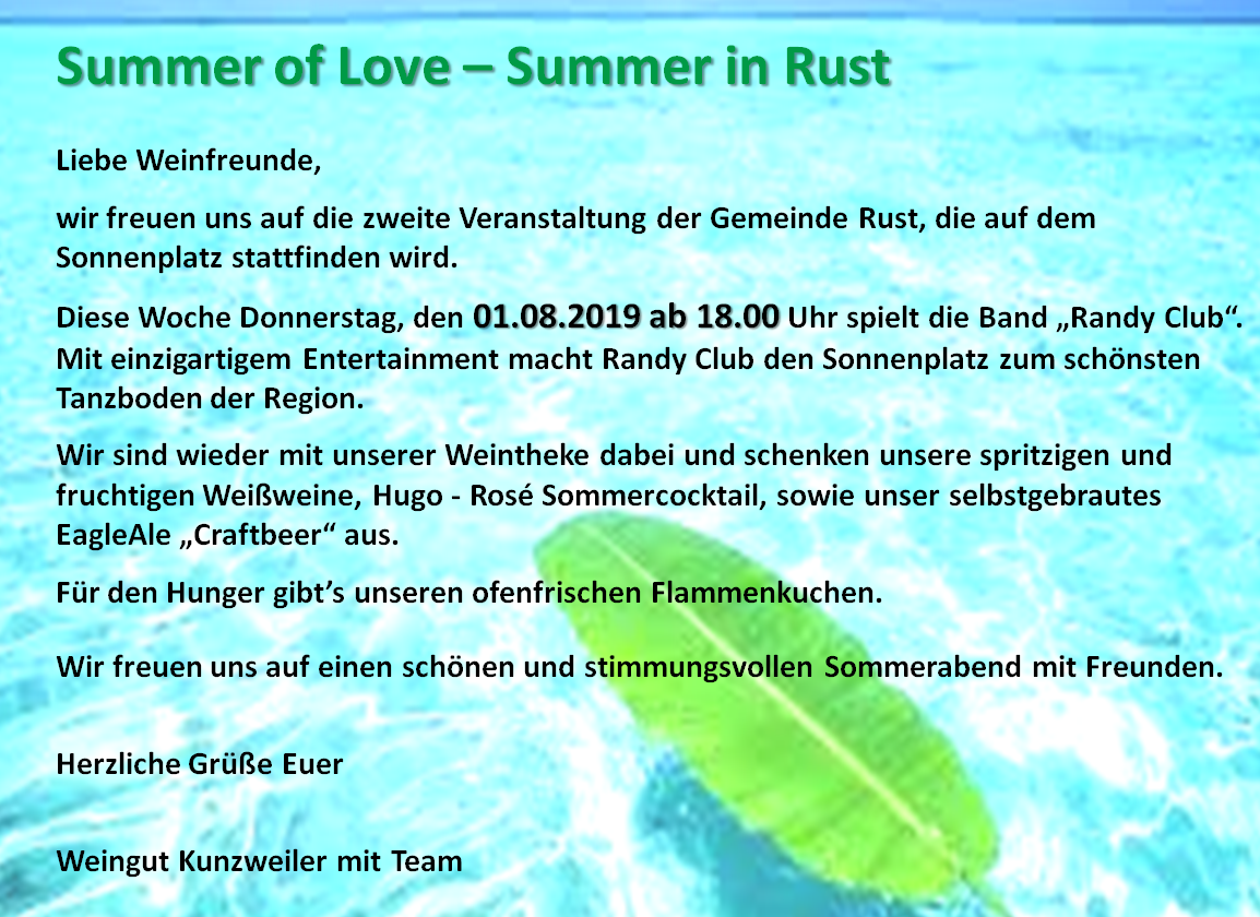 Summer Of Love - Summer in Rust - 01.08.2019
