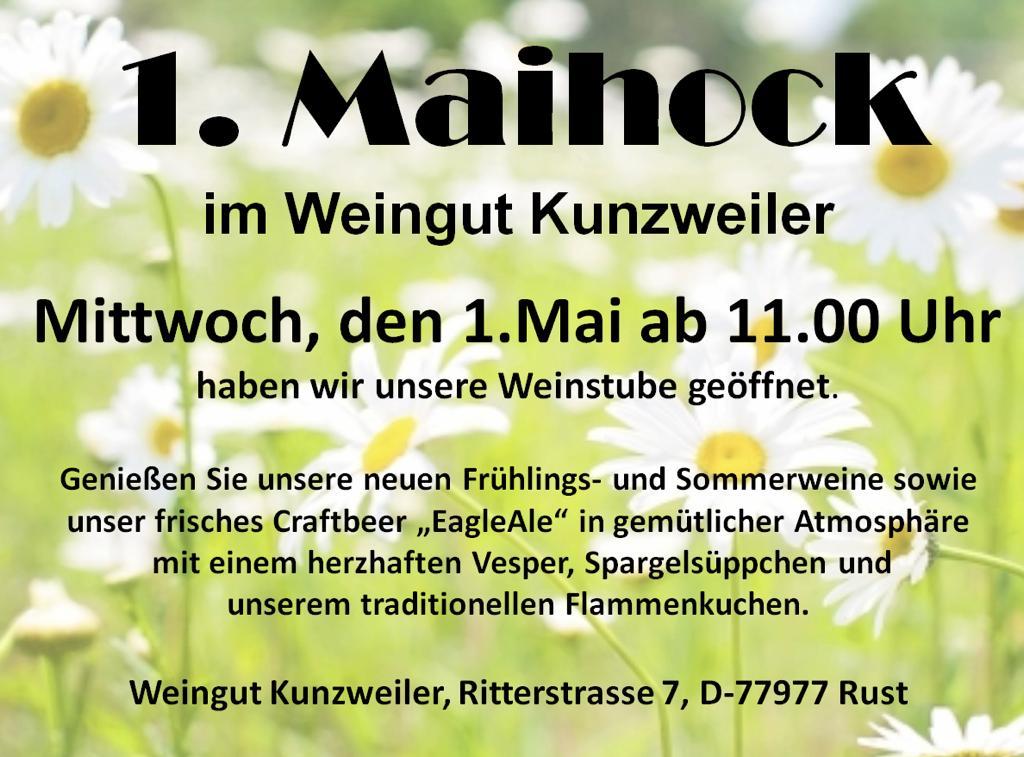 Maihock im Weingut Kunzweiler am 1. Mai 2019